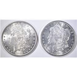 1881-S & 85 CH BU MORGAN DOLLARS