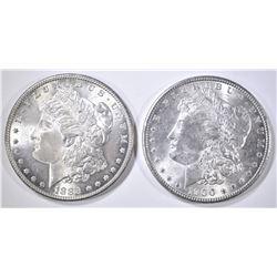 1885 & 1900 CH BU MORGAN DOLLARS
