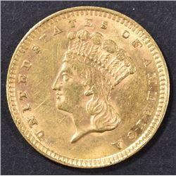 1857 $1 GOLD INDIAN PRINCESS  CH UNC