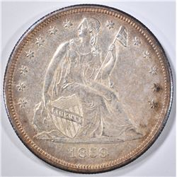 1859-O SEATED DOLLAR  GEM ORIG UNC