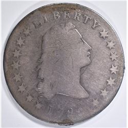 1795 FLOWING HAIR DOLLAR  FINE   OLD RESIDUE