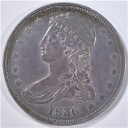 1836 REED EDGE HALF DOLLAR  XF