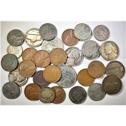 LOT OF 30 US COINS: