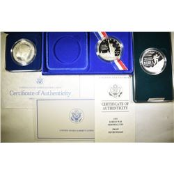 MODERN PROOF COMMEM SILVER DOLLAR LOT: