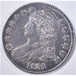 1831 BUST HALF DOLLAR  CH AU