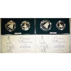 2-1995 PROOF CIVIL WAR 2-COIN SETS