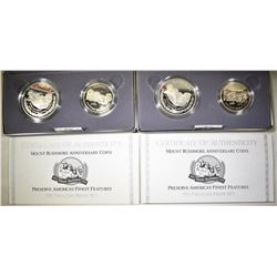 2-1991 MOUNT RUSHMORE 2-COIN PROOF COMMEM SETS
