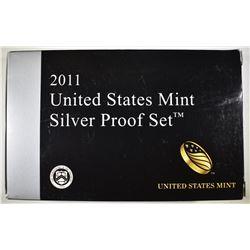 2011 U.S. SILVER PROOF SET ORIG BOX/COA