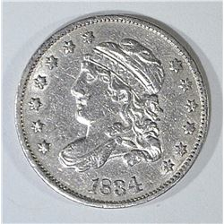 1834 BUST HALF DIME AU