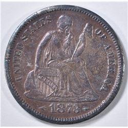 1873-S ARROWS SEATED LIBERTY DIME  BU