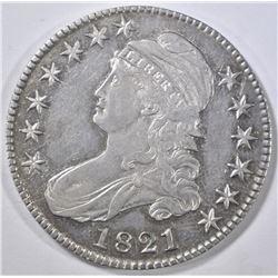 1821 BUST HALF DOLLAR AU