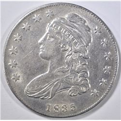1835 BUST HALF AU