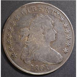 1801 BUST DOLLAR   F/VF