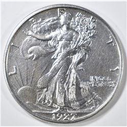 1927-S WALKING LIBERTY HALF DOLLAR  AU/BU