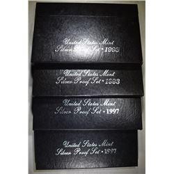 2-1993 & 2-1997 U.S. SILVER PROOF SETS