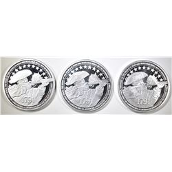 3-2nd AMENDMENT ONE OUNCE .999 SILVER ROUNDS