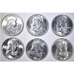 3-1954 & 3-54-D BU FRANKLIN HALF DOLLARS