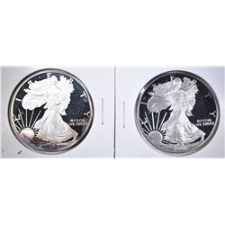 2001, 2002 PROOF AMERICAN SILVER EAGLES COINS ONLY