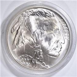 2001-D UNC AMERICAN BUFFALO COMMEM SILVER DOLLAR