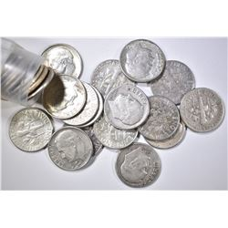 ROLL OF 50-90% CIRC SILVER ROOSEVELT DIMES