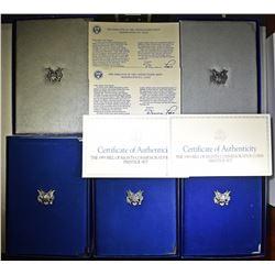 2-1986 & 3-1993 U.S. MINT PRESTIGE PROOF SETS
