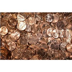 1000-BU P&D MIXED LINCOLN CENTS: 1980-89