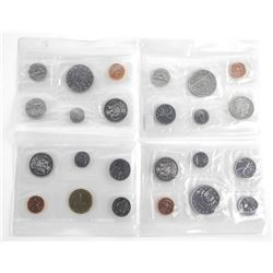 Group of (4) RCM UNC Coin Sets