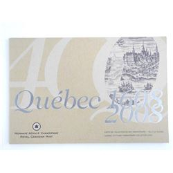 Quebec 1608-2008 Coins 400th Anniversary Collector Card