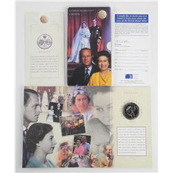 1997 Golden Wedding Crown Folio L5 - Royal Mint