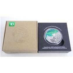 Toronto Dominion Northern Lights Silver Round 1oz ASW Bull Moose