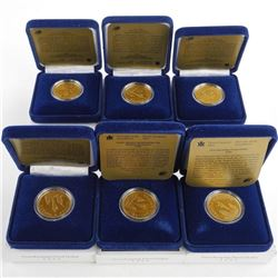 Lot (6) 1995 Proof Peacekeeping One Dollar Coin