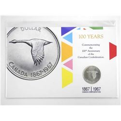 1867/1967 10 years 100th Anniversary Silver Dollar - Display