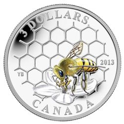 2013 .9999 Fine Silver $3.00 Coin 'Bee and Hive' LE/C.O.A. SOLD OUT