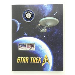 Star Trek 2018 25 Cent Coloured Coin and Stamp Folio