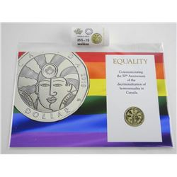 Original Mint Special Wrap Roll Equality Dollar COin 25 Coins Plus Display