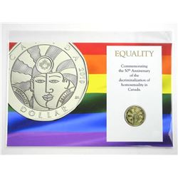 Equality Dollar Coin Display Card