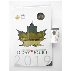 D-Day(1944-2019) 'Remember' 2019 6 Coin Folio and RCM Special Wrap Roll 25 x 2.00 Coloured Coin All