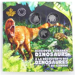 Dinosaurs of Canada 25 Cent 3 Coin Set - Folio