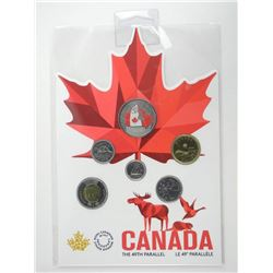 From Far and Wide - Canadian 2018 Circulation 6 Coin Set, Enamel Colour Map Gift Folio