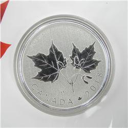 The Maple Leaf Coin 2018 .9999 Fine Silver 1/2 oz Coin, Special Design $10.00 Gift Folio