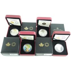 Grouping (4) .9999 Fine Silver Coins 2x$5.00, 1x$10.00 and 1x$20.00 LE/C.O.A.