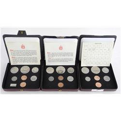 Lot (3) RCM Specimen Double Penny Mint Sets: 1975, 1976, 1977