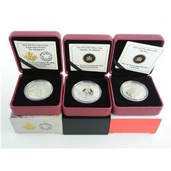 Group of (3) RCM .9999 Fine Silver Coins $10.00, $15.00 and $25.00 0 LE/C.O.A. 'Allegory, Voyagers,