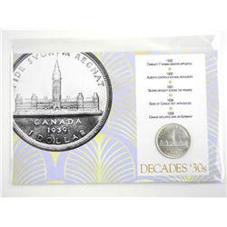 Decades 30s - 1939 CAD Silver Dollar Display