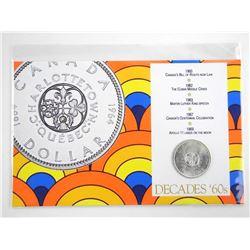 Decades 60's - 1964 CAD Silver Dollar Display