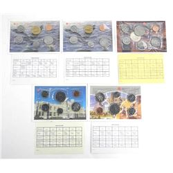Group of (5) RCM UNC Coin Sets: 1985, 1986, 1987, 1988, 1989