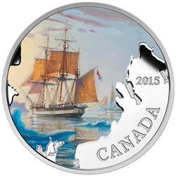 .9999 Fine Silver $20.00 Coin 'Franklin's Lost Expedition' LE/C.O.A.