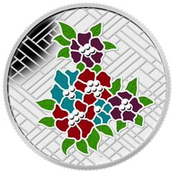 .9999 Fine Silver $20.00 Coin 'Stained Glass - Castle'