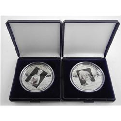 Lot (2) 925 Sterling Silver Hollywood Legends - $5.00 'Marlene Dietrich' and 'Ginger Rogers' Scarce.