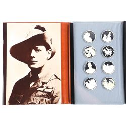 Sir Winston Churchill 8 Piece 925 Sterling Silver Proof Set Royal Mint and Amex in Folio. Ebay List
